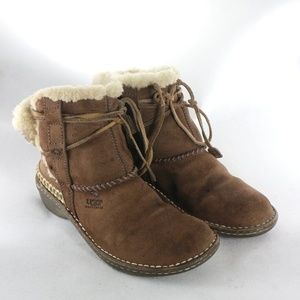 UGG Australia Cove Shearling Line Suede Ankle Boot